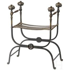A Venetian antique-style folding stool, Italy, circa 1600