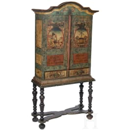 An unusual German baroque cabinet as an armoire of the tanners' guild, 18th century