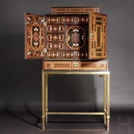 Großes Barock-Kabinett mit feinem Marketterie-Dekor, wohl Antwerpen, 17. Jhdt.