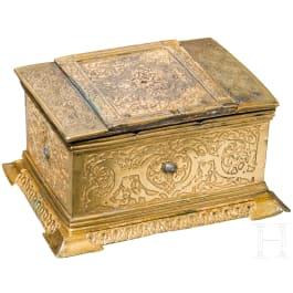 A German etched and gilt Renaissance casket, circa 1560