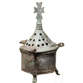 A Middle Byzantine bronze incense burner, 9th - 11th century
