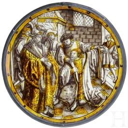 """Rondell """"Heimkehr des verlorenen Sohnes"""", deutsch, wohl Köln, um 1530/40"""