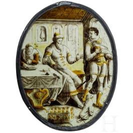 """Ovales Rondell """"Der Abschied des verlorenen Sohnes"""", Niederlande, um 1550"""