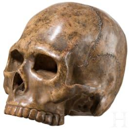 Memento Mori-Schädel aus Terrakotta, Italien, 17./18. Jhdt.