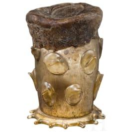Gläserner Reliquienbehälter, deutsch, um 1600