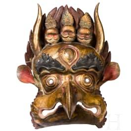 A Tibetan dance mask in the form of a Garuda, 20th century