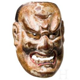 Minatur-No-Maske eines Oni, Japan, Edo-Periode