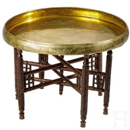 A Mamluk brass dinner tray, 14th century
