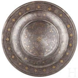 A damascened Indian presenting plate, Lahore, 19th century