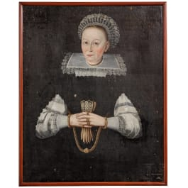 A portrait of a German lady, dated 1639