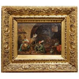 Affen beim Müßiggang, Zacharie Noterman zuges., Paris, 2. Hälfte 19. Jhdt.
