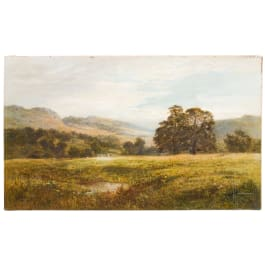 Robert Gallon (1845 – 1925) – an English landscape, dated 1882