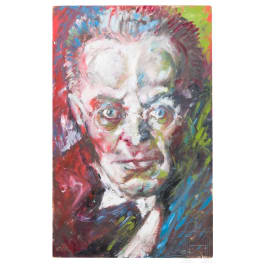 A portrait of Karl Kraus from the workshop of Oskar Kokoschka