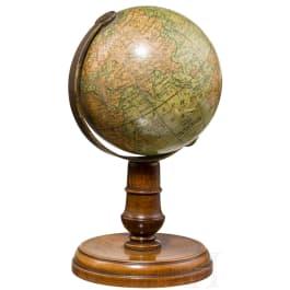 A rare small globe, Nuremberg, circa 1860
