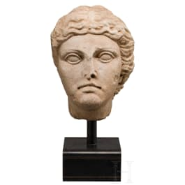 A provincial-Roman marble head of a woman, 2nd – 3rd century
