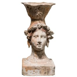 A Lower Italian incense burner in the shape of a woman's head, Canosa, 3rd century B.C.