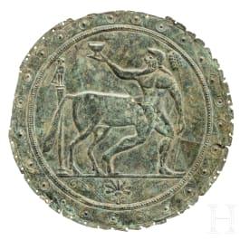 A Greek bronze sheet with the centaur Chiron, 6th century B.C.