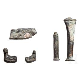 Five Hellenistic bronze hallmarks, Asia Minor, 3rd - 2nd century B.C.