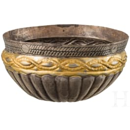 Silberschale mit Vergoldung, wikingisch, Osteuropa, 11. - 12. Jhdt.