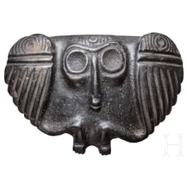 Skulptur in Gestalt eines Mischwesens mit Flügeln, Taino-Kultur, Karibik, 11. - 15. Jhdt.