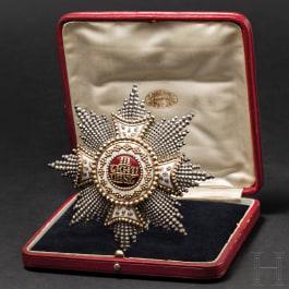 Leopold Freiherr von Leonrod - a Breast Star of the Order of St. Hubert 1899, in presentation case