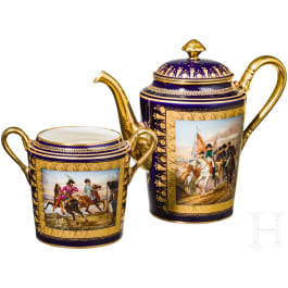 A coffee can and a sugar bowl of the Sèvres manufactory, circa 1807