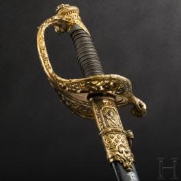 Major J. Poysat, Adjutant-Major de la 3e Légion de la Garde Nationale de Paris – a splendid sword presented for his farewell on 19 October 1849