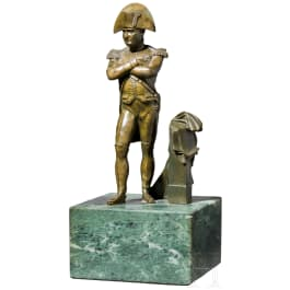 Napoleon Bonaparte - a bronze statuette in uniform