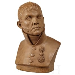 A French bust of a navy officer, circa 1830