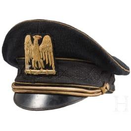 A visor cap of a dirigente fasci all'estero