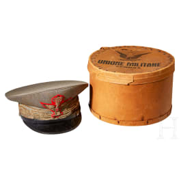An Officers General Rank Visor Cap with Storage Box