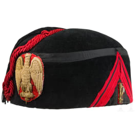 A black fez of a caporale d'onore, circa 1941
