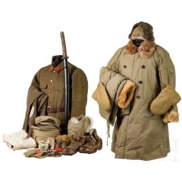 A uniform and equipment ensemble of an Army NCO, World War II