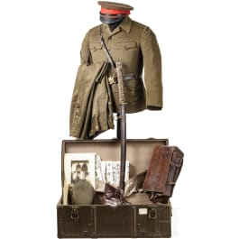 A uniform and equipment for WW II officers of the Imperial Japanese Army