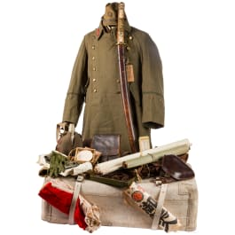 A uniform and equipment ensemble of an army officer in the World War II