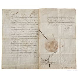 King Frederick II - a patent for the Prussian consul in Genoa, dated 1764