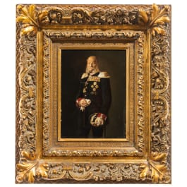 Kaiser Wilhelm I. - a portrait painting, end of 19th century