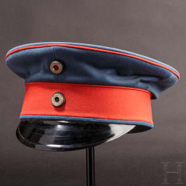 Kaiser Wilhelm II - a personal visor cap for officers of the dragoons, circa 1900