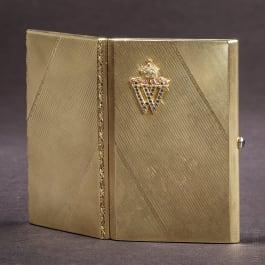 Emperor Wilhelm II - a golden cigarette case