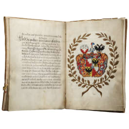 A patent of nobility by Emperor Leopold I. for the Counts von Freyen-Seyboldsdorf, dated 1692
