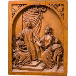 Kaiser Franz Joseph I. und Kaiserin Elisabeth von Österreich - in Holz geschnitzte Darstellung des Kaiserpaares