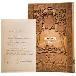 Kaiser Karl I. – Erinnerungskassette an Kolomea, datiert 1912/13