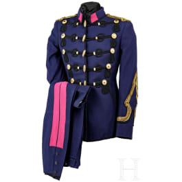 A parade uniform for an officer of the Hussars, circa 1930