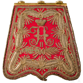 A finely embroidered sabretache for hussar officers, circa 1900