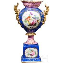 Handbemalte Vase, russische Privatmanufaktur, Russland, Mitte 19. Jhdt.