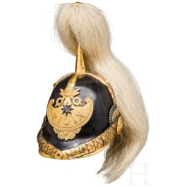 """An officer's helmet of the """"Guardia Civica Pontificia"""", 1846 - 1878"""