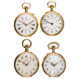 Four golden ladies pocket watches - Germany and Europe, early 20th century