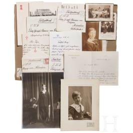 Prince Alfons von Bayern (1862 - 1933) - four handwritten letters 1892 - 1915