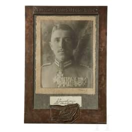 A silver-framed photograph of Max Immelmann