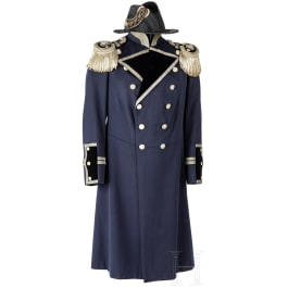 A bicorn and grand ceremonial tunic for a navy construction inspector of the Imperial Navy